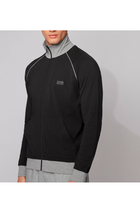 Hugo Boss Full Zip Cotton Jacket Black