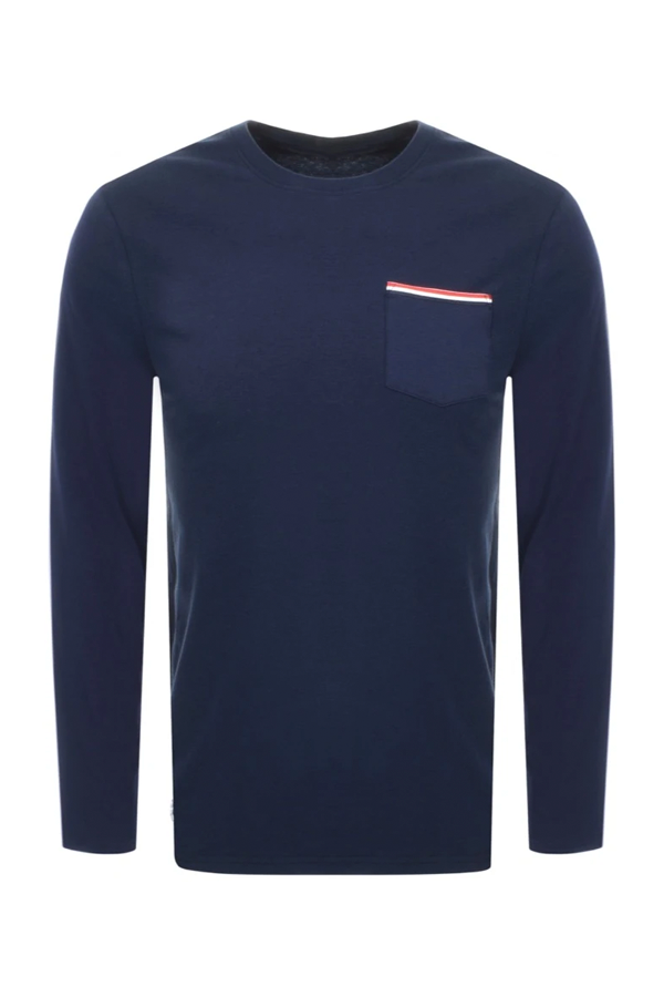 Lacoste L/S Pocket Tee Navy