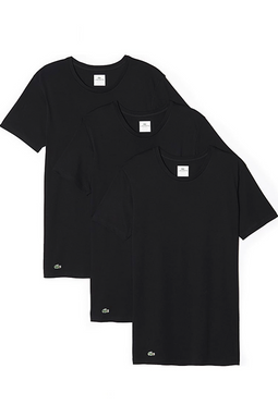 Lacoste 3-Pack Regular CN Tee Black