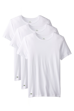 Lacoste 3-Pack Slim CN Tee White