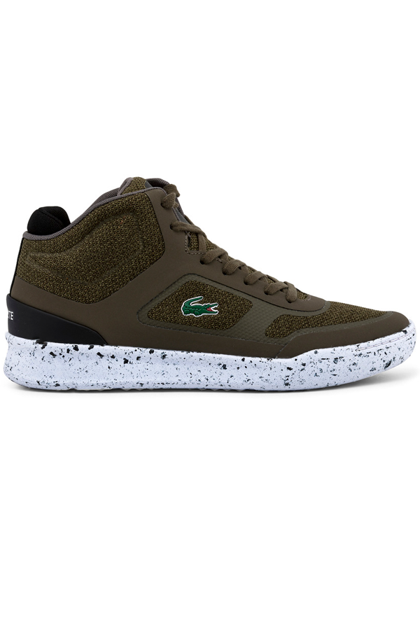 Lacoste explorateur sport high sneakers dark green - 42 fra lacoste fra luxivo.dk