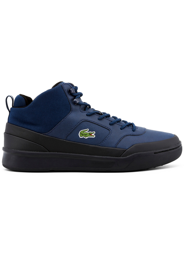 Lacoste explorateur sport high sneakers navy black - 42 fra lacoste fra luxivo.dk