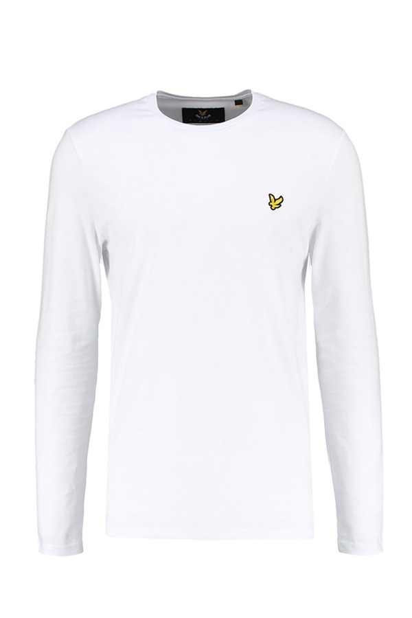 Image of   Lyle & Scott Longsleeve Tee White - L