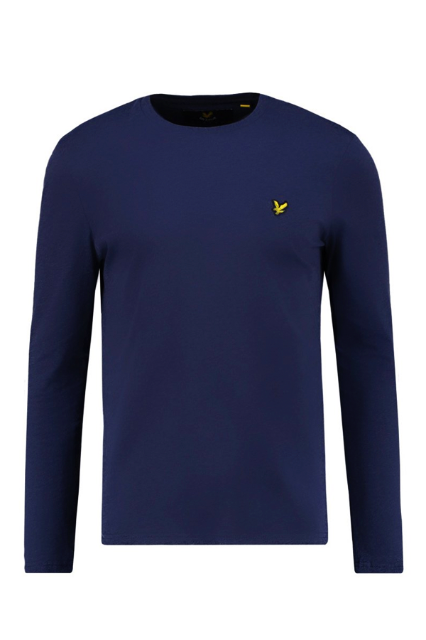 Image of   Lyle & Scott Longsleeve Tee Navy - L
