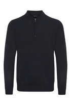 Matinique Mason Merino Zip Dark Navy