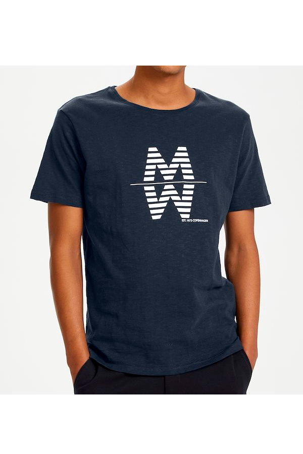 Matinique Maslubon Logo Tee Dark Navy