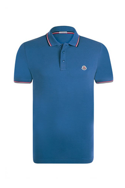 Moncler S/S Polo Shirt Blue