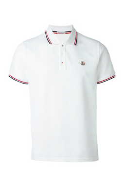 Moncler S/S Polo Shirt White