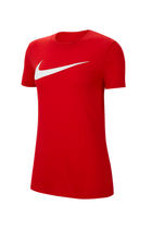 Nike Women Park Training Tee Red