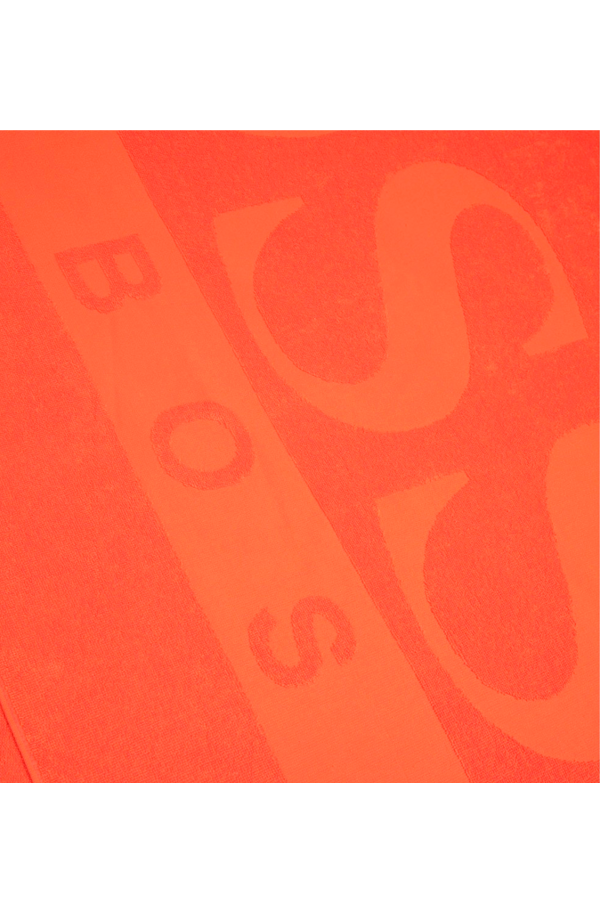 Hugo Boss Logo Beach Towel Orange