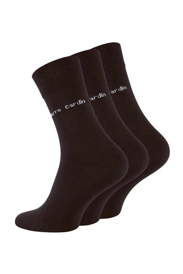 pierre cardin Pierre cardin 3-pack dress socks brown - 43-46 fra luxivo.dk