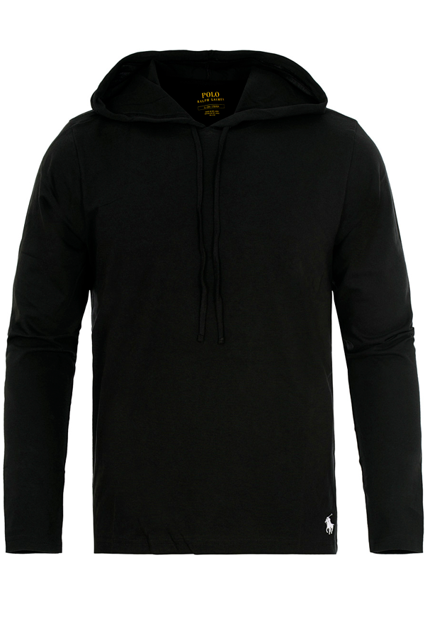 Ralph Lauren Lightweight Cotton Hoodie Black
