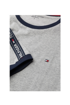 Tommy Hilfiger Logo Sleeve Tee Grey Heather