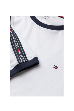 Tommy Hilfiger Logo Sleeve Tee White