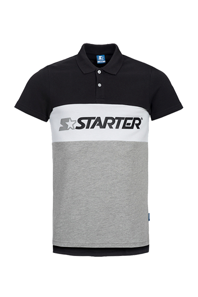 Image of   Starter Impulse Pique Polo Black - L