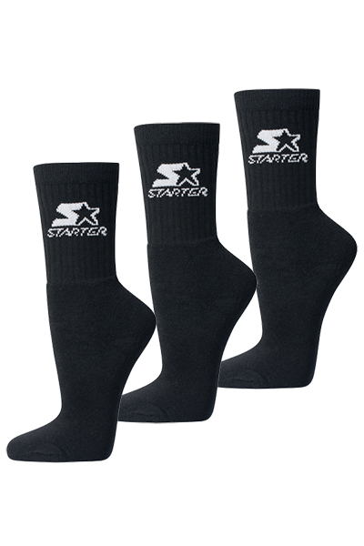 Image of   Starter Sports Socks 3-Pack Black - 39-42