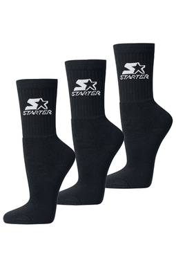 Starter Sports Socks 3-Pack Black