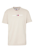 Tommy Hilfiger Small Text Tee Stone