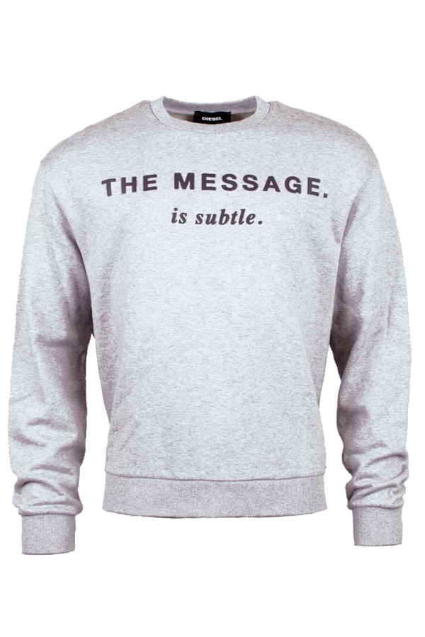 diesel – Diesel oversized sweatshirt light grey - m på luxivo.dk