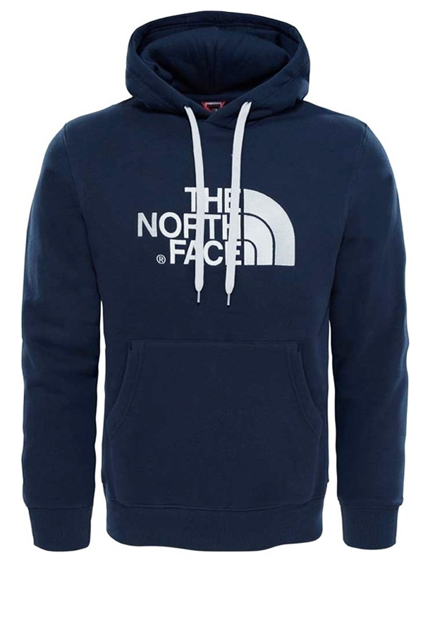 the north face the north face drew peak hoodie urban navy - l