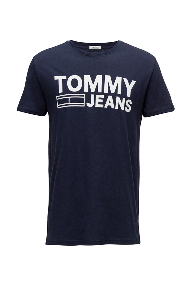 Tommy jeans essential logo tee iris - xl fra tommy hilfiger fra luxivo.dk
