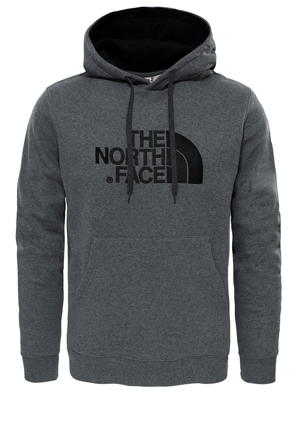 the north face drew peak hoodie grey - m fra the north face