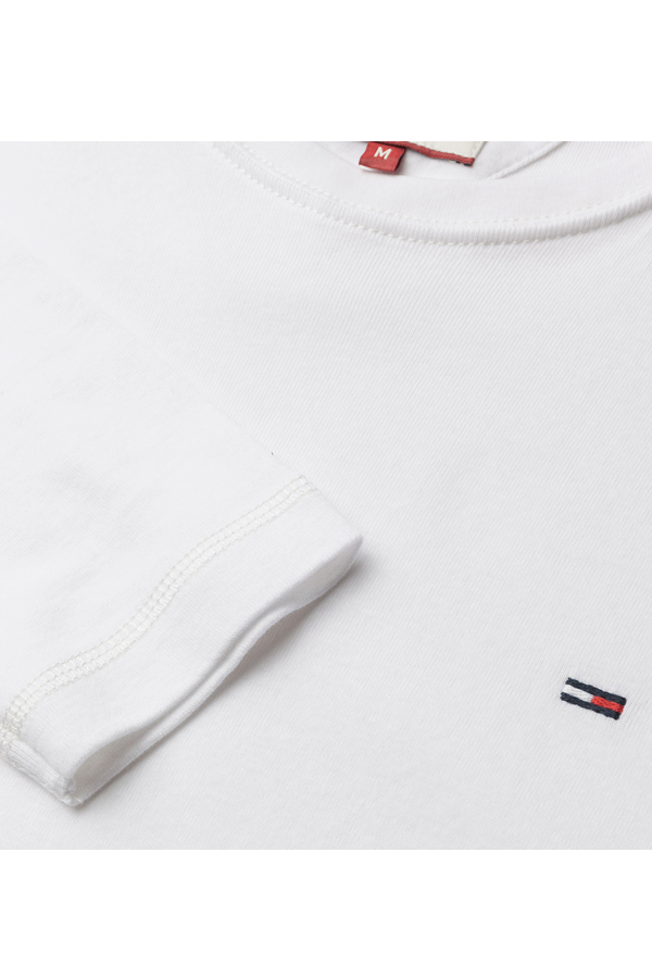 Tommy Hilfiger Logo L/S Tee White