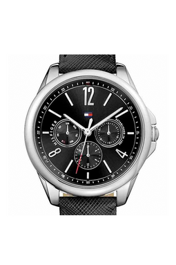 Tommy Hilfiger Leather Watch 1781822 Black