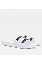 Tommy Hilfiger Flag Logo Slides White