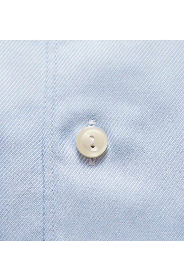 ETON Slim Fit Twill Textured Shirt Sky Blue