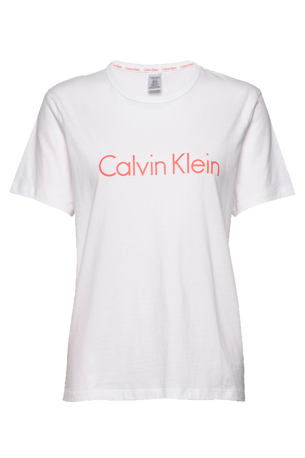 Calvin Klein Women S/S Crew Neck Tee White Grape