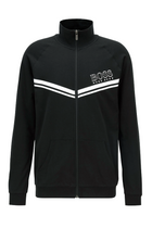 Hugo Boss Club Logo Zip Jersey Black