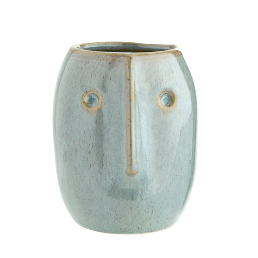 Small Green Face Plant Pot