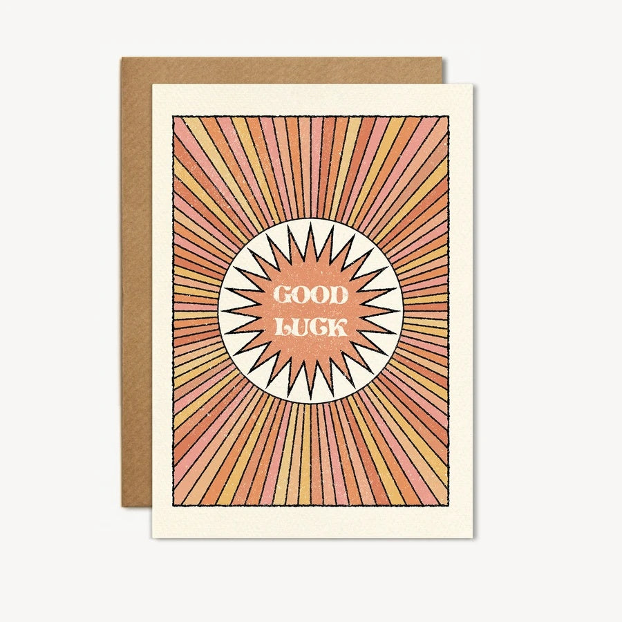 Sun Beam Good Luck Card