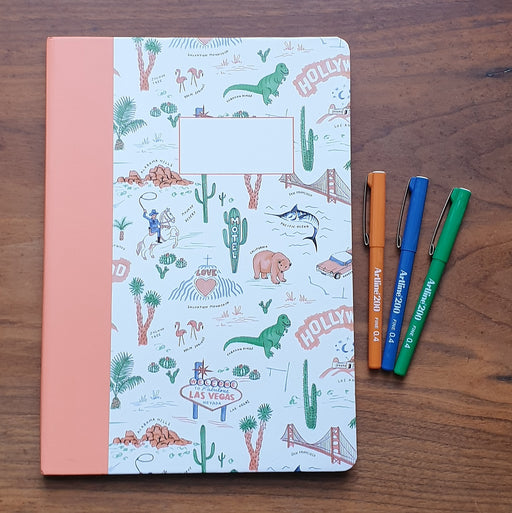 A4 Road Trip Notebook