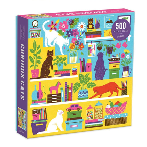 Curious Cats - 500 Piece Jigsaw Puzzle