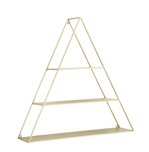 Gold Triangle Shelf Set of Two