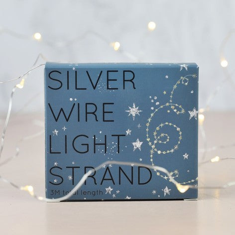 Silver Battery Powered Wire Lights