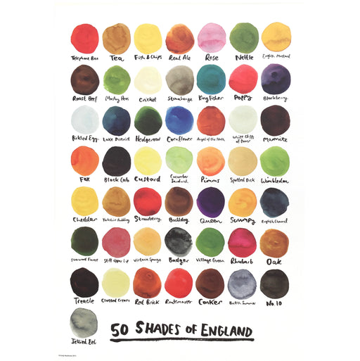 50 Shades of England Print