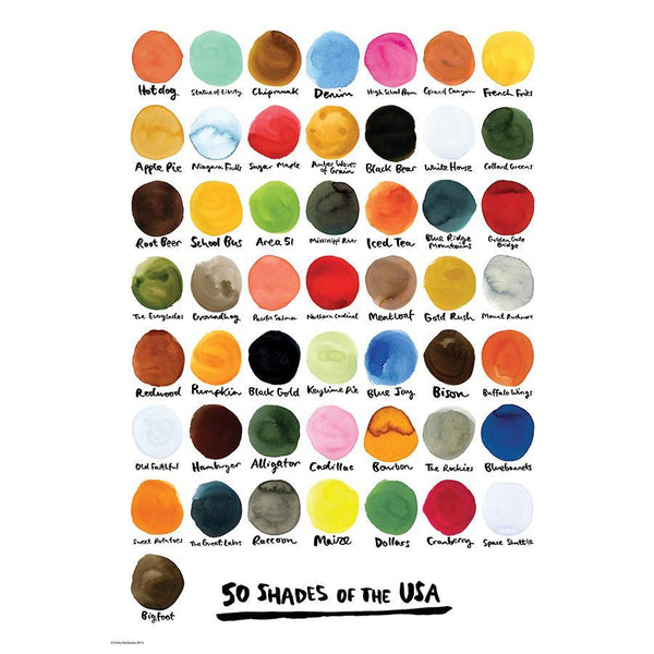 50 Shades of the USA Print