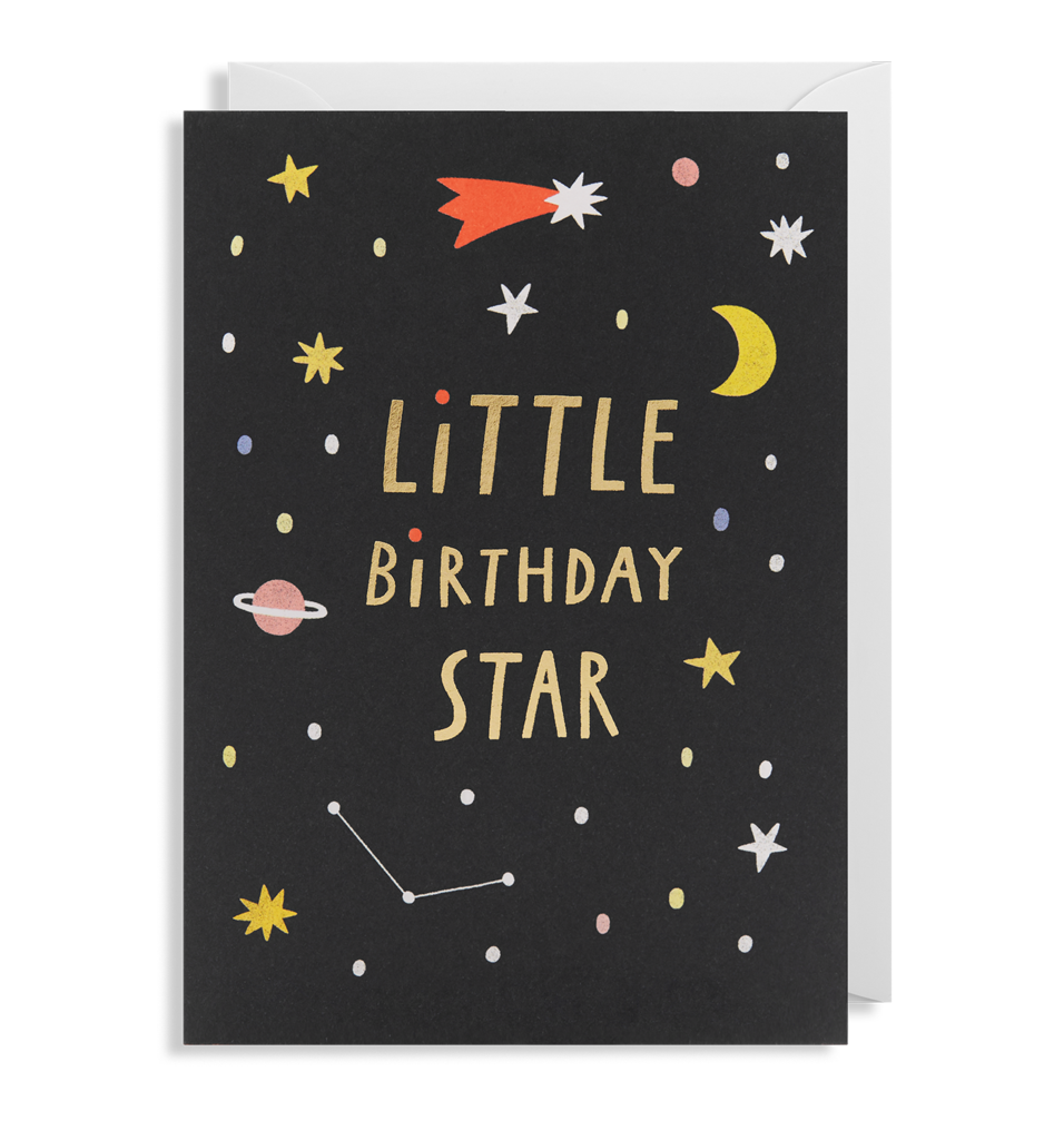 Little Birthday Star Birthday Card