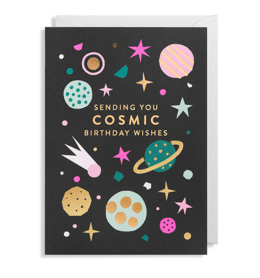 Cosmic Wishes Birthday Card