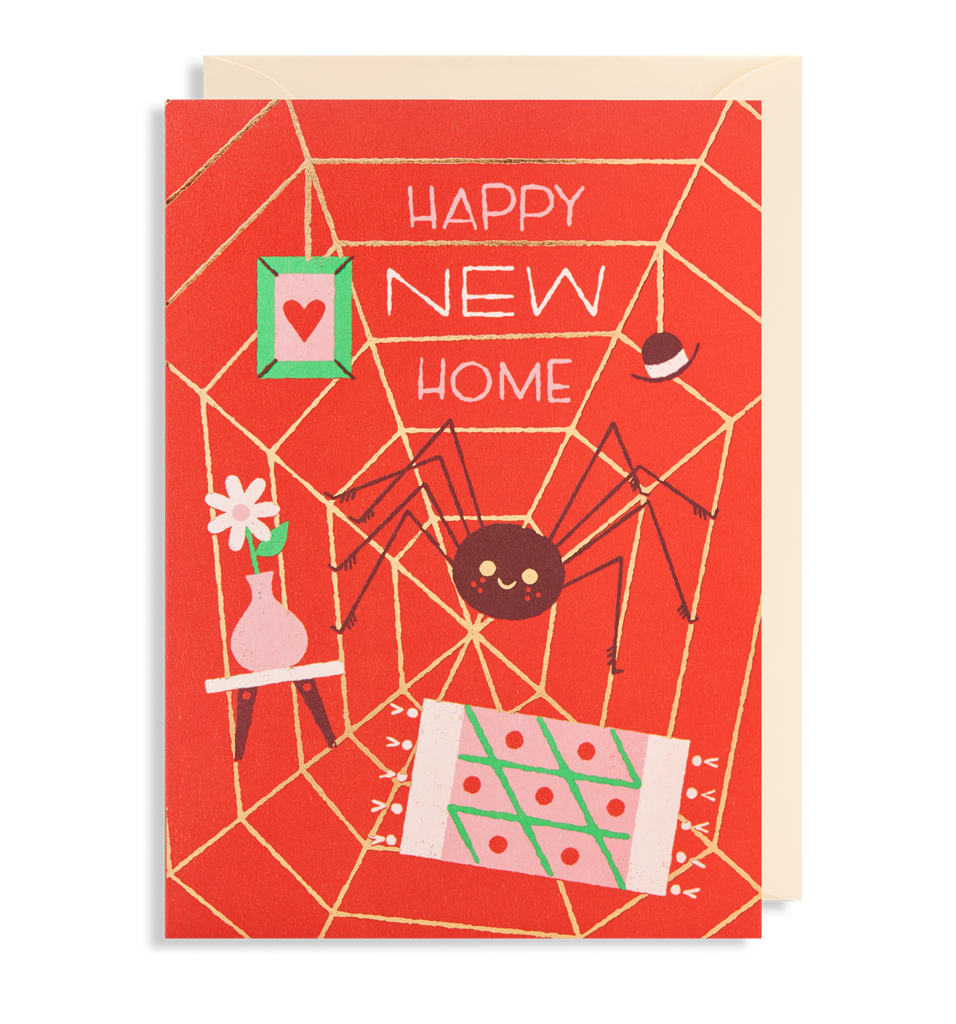 Spider Web New Home Card