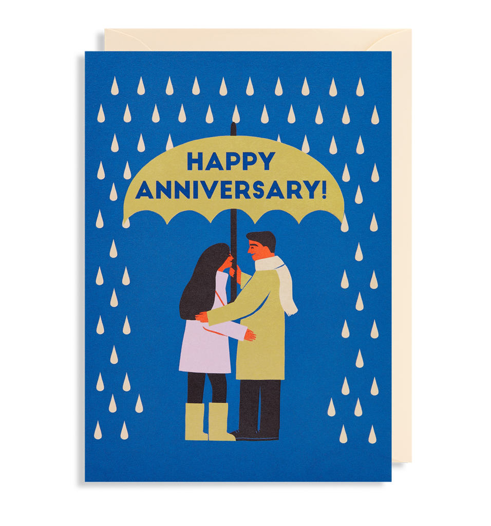 Umbrella Anniversary Card