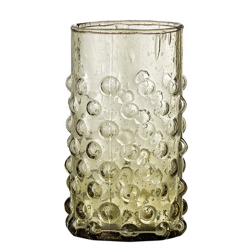 Green Dotted Water Glass