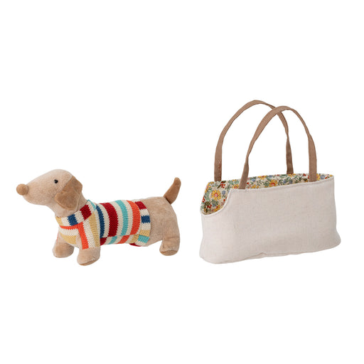 Sausage Dog With Bag Soft Toy