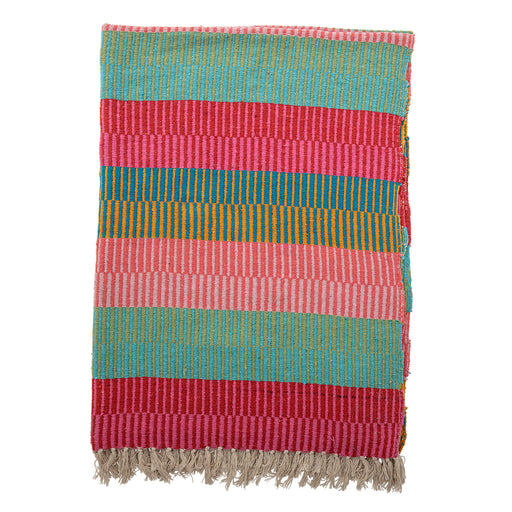 Isnel Bright Stripes Recycled Cotton Throw