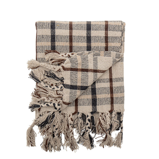 Ekin Checked Recycled Cotton Throw