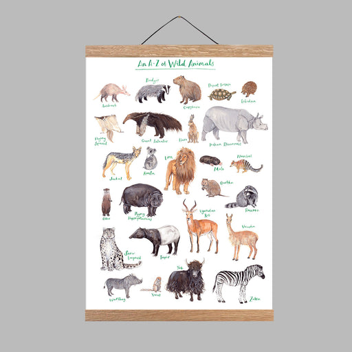 A3 A to Z of Wild Animals Art Print