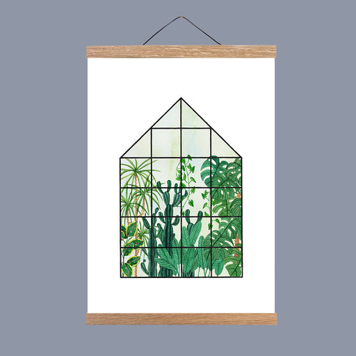A3 Tropical House Art Print